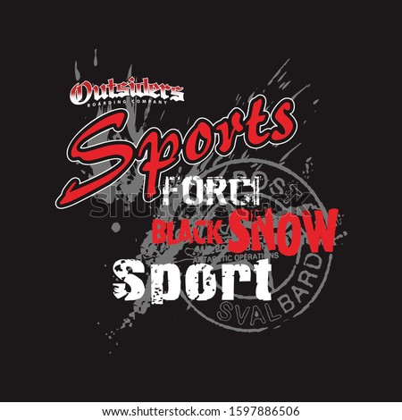 grunge style outsider sport Typography Graphic, t shirt design