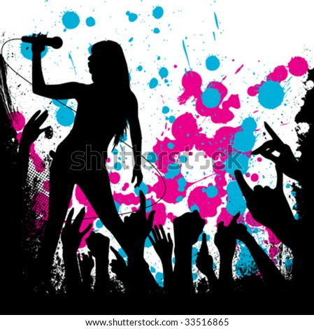 grunge style party background