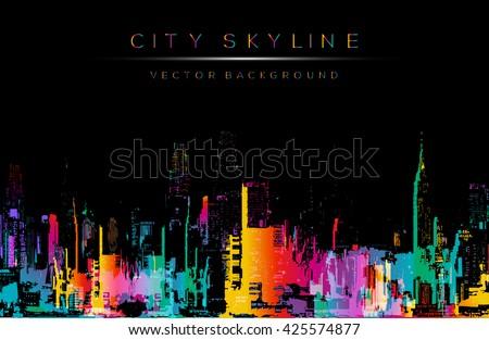 grunge style vector art