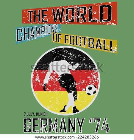 grunge style world football...
