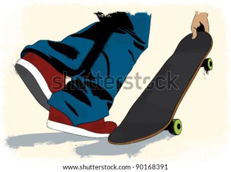 grunge styled skateboarding