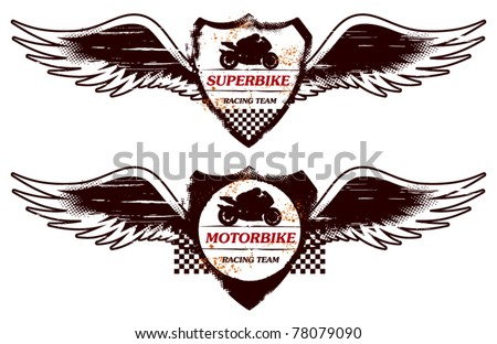 grunge super bike shield with wings