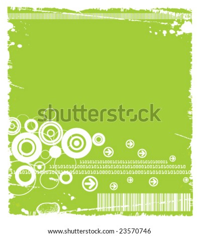 Grunge Tech Background Available in Green(vector+JPG), Blue(JPG only) and Black(JPG only). - stock vector