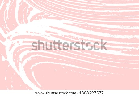Grunge texture. Distress pink rough trace. Fabulous background. Noise dirty grunge texture. Great artistic surface. Vector illustration.