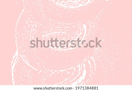 Grunge texture. Distress pink rough trace. Graceful background. Noise dirty grunge texture. Unusual artistic surface. Vector illustration.