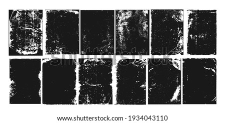 Grunge texture noise, abstract black effect set, vector illustration. Dark dirty overlay design, ink paint background. Backdrop textured grain collection, isolated on white splash pattern.