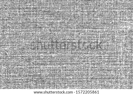 Grunge texture of coarse linen fabric.  Abstract background of natural linen fabric close-up. Smooth smooth burlap. Vector illustration. Overlay template.