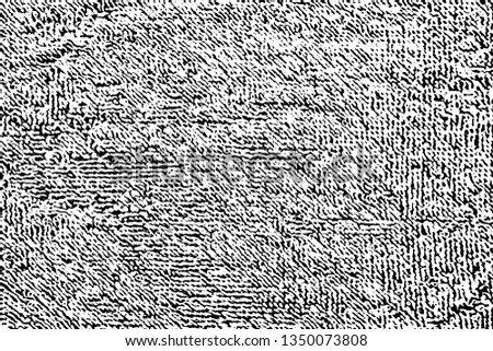 Grunge texture terry cloth. Monochrome halftone background terry towel. Overlay template. Vector illustration Stockfoto ©