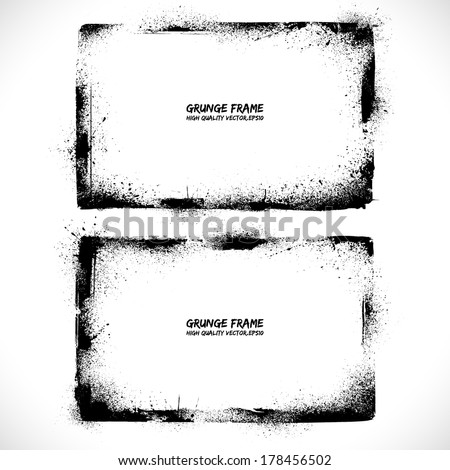 Grunge textured vector frames. Vector background. Vintage frames ...