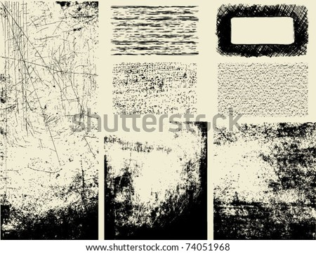 Grunge textures and overlays
