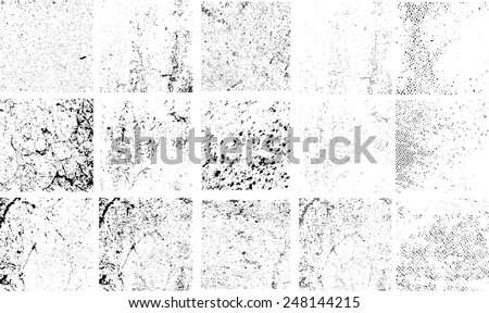 grunge textures set distressed