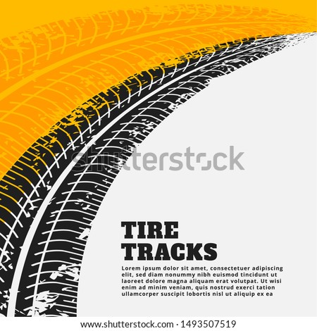 grunge tire track print marks backgroun