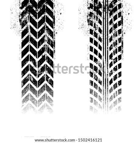 Grunge tire tracks vector illustration