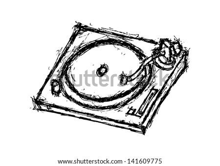 grunge turntable