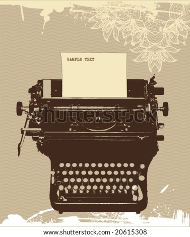 grunge typewriter, vector design