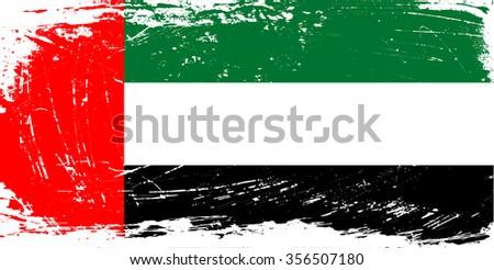 old grunge flag of united arab emirates download free vector art