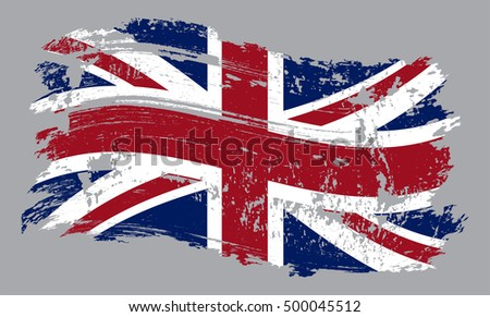 grunge united kingdom flag...
