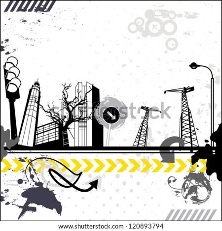 grunge urban card
