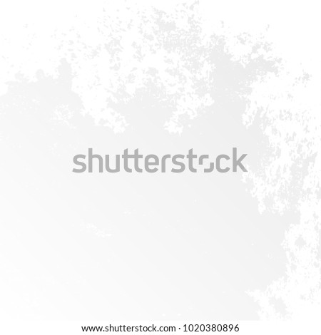 Grunge Urban Dust Distress Grain Overlay Texture for your amazing creative design. Coal graphic. Ink. Graphite. Dirty splatter space. Grey White background. White texture. #1020380896