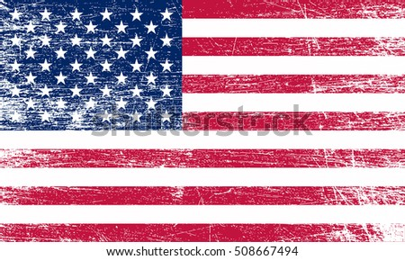 Grunge USA flag. #508667494