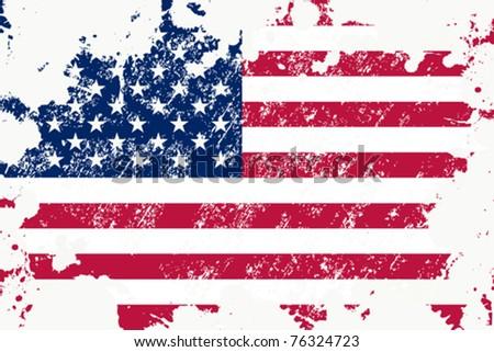 Grunge USA flag #76324723