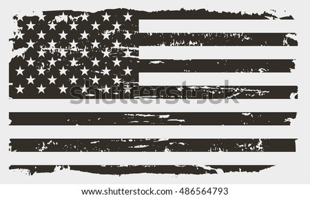 Grunge USA flag.American flag.Vector template. #486564793