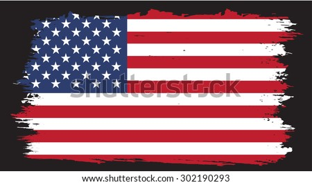 american flag on grunge background - download free vector art