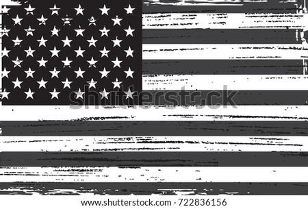 grunge usa flag black and