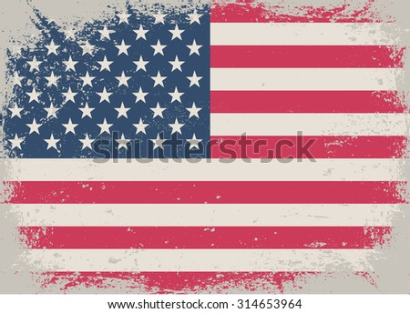 grunge usa flagold vector