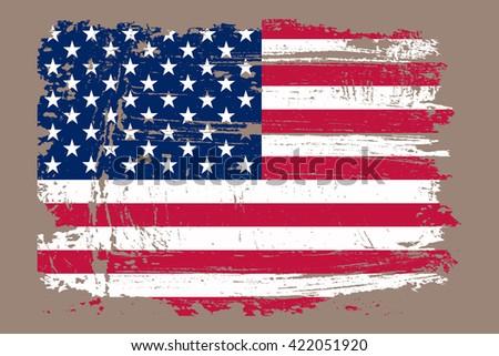 grunge usa flag.vector american ...