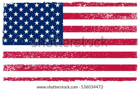 grunge usa flagvector american