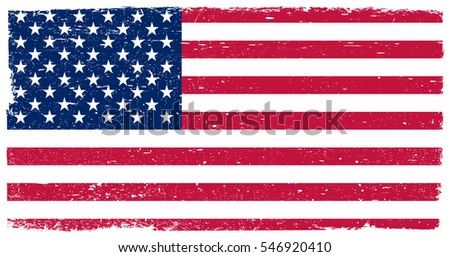 grunge usa flagvector flag of