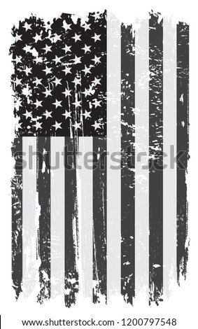 Grunge USA flag.Vector old American flag.