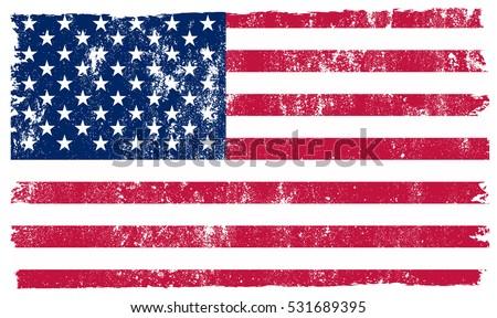 Grunge USA flag.Vintage American flag.Vector. #531689395