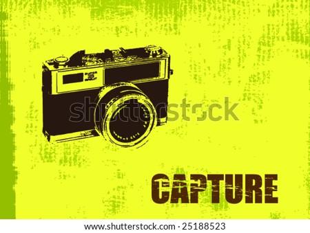 Grunge Camera Vector : Vintage camera download free vector art stock graphics & images