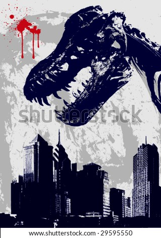 Grunge Vector Background -A Metaphor of Epidemic Outbreak-
