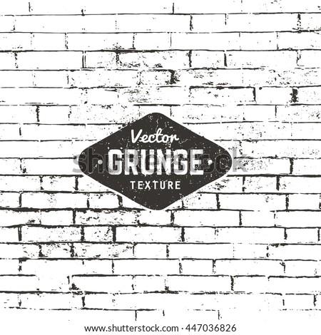 Grunge vector background texture. Brick wall distressed texture.