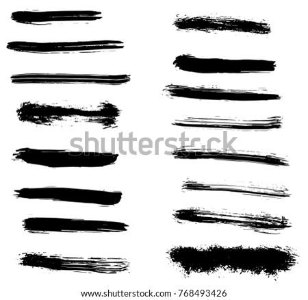 Grunge vector brush strokes