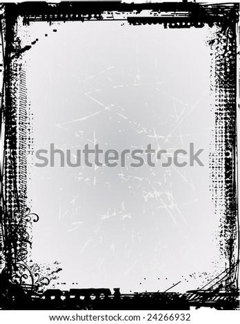 Grunge vector frame 11 (vector)