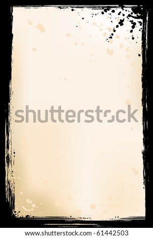 Grunge vector frame with paint splats