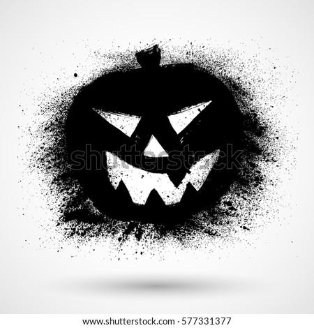 grunge vector halloween pumpkin