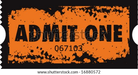 Grunge vector movie ticket stub