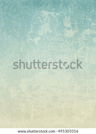 Grunge vintage old paper vector background.  For retro looks invitation cards and vintage designs. Abstract blue sky view
