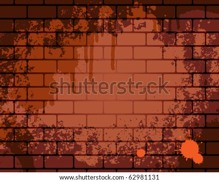 Grunge wall background, vector illustration