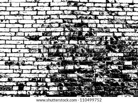 Background Black And White Brick Grunge White And Black Brick