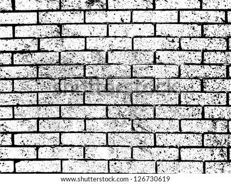 Grunge White And Black Brick Wall Background Vector