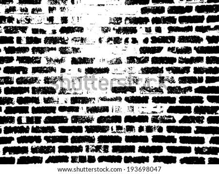 grunge white and black brick