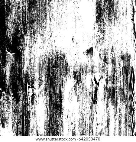 Shutterstock Grunge wood overlay texture. Vector illustration background in black over white, square format.