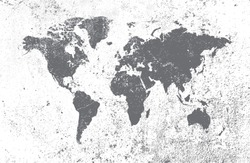 Grunge world map.