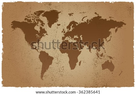 grunge world mapold world map